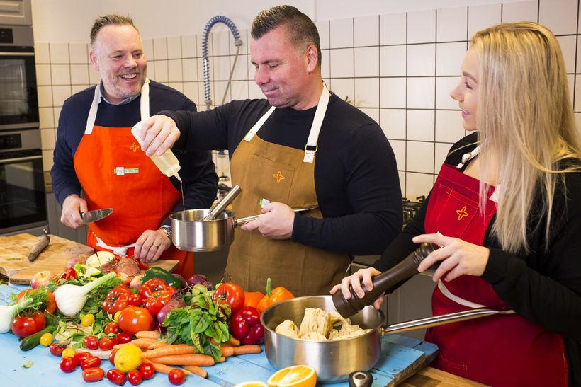 Jón Arnar, Gunnar Már og Jenný Sif Ólafsdóttir verkefnastjóri Einn, ...
