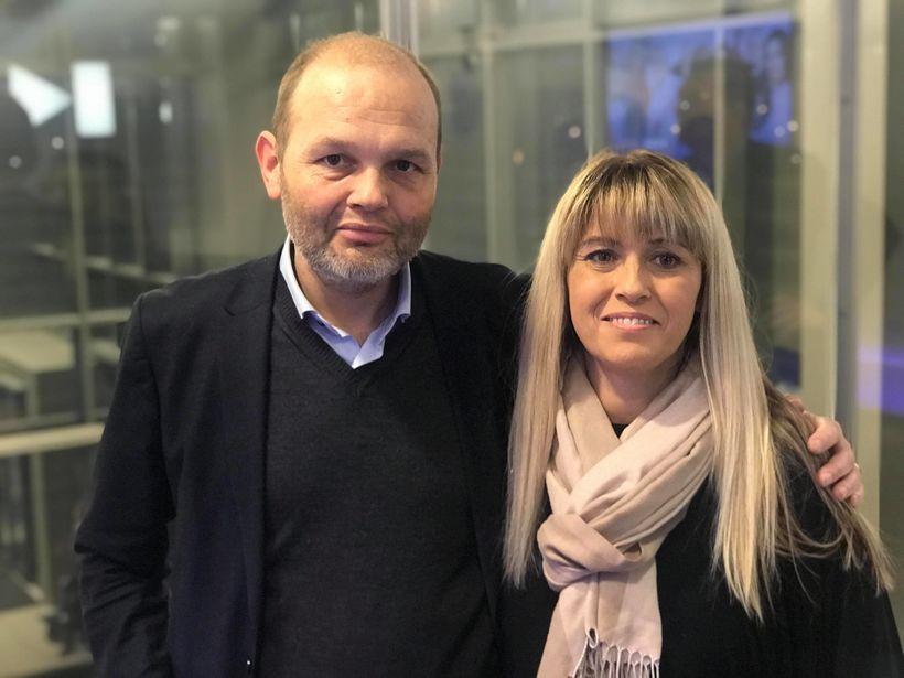 Karl Pétur Jónsson nýrnaþegi og María Dungal sem bíður og ...