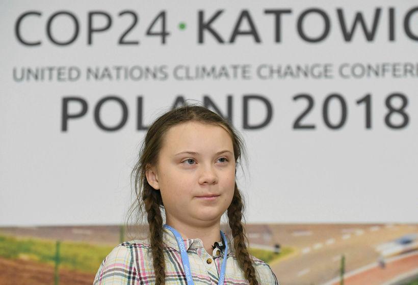 Greta Thunberg, 15 ára sænsk skólastúlka, sagði leiðtoga heims haga ...