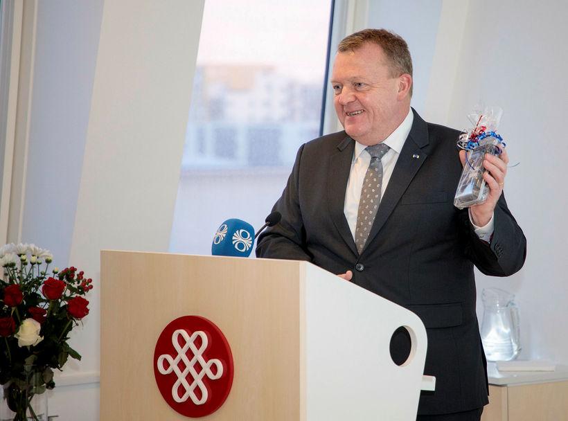Lars Løkke Rasmussen, forsætisráðherra Danmerkur, í heimsókn sinni til Íslands ...