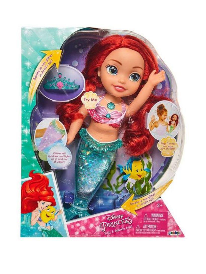 Princess Sing and Sparkle Ariel-dúkkan er seld í Bretlandi á ...