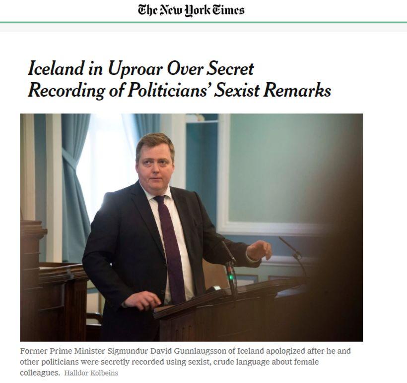 Erlendir miðlar hafa fjallað um Klaustursmálið og segir The New …