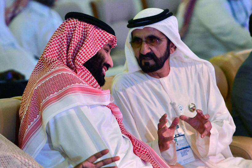 Sjeik Mohammed bin Rashid Al Maktoum, til hægri.