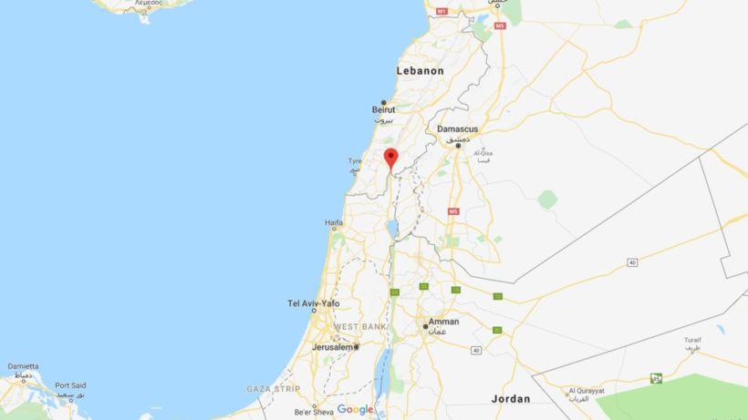 Metulla er við landamæri Ísraels og Líbanon