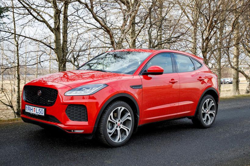 Jaguar E-pace verður ekki á bílasýningunni í Genf í byrjun ...