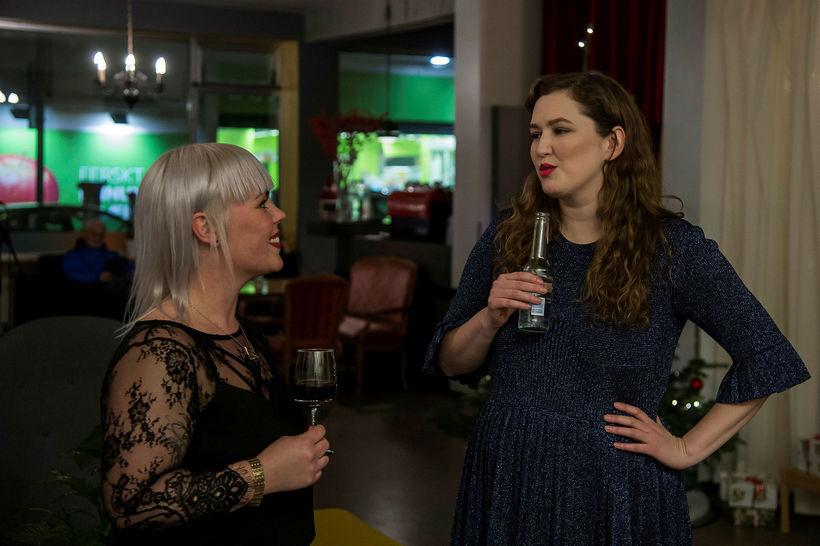 Anna Lea Friðriksdóttir og Laufey Jónsdóttir.