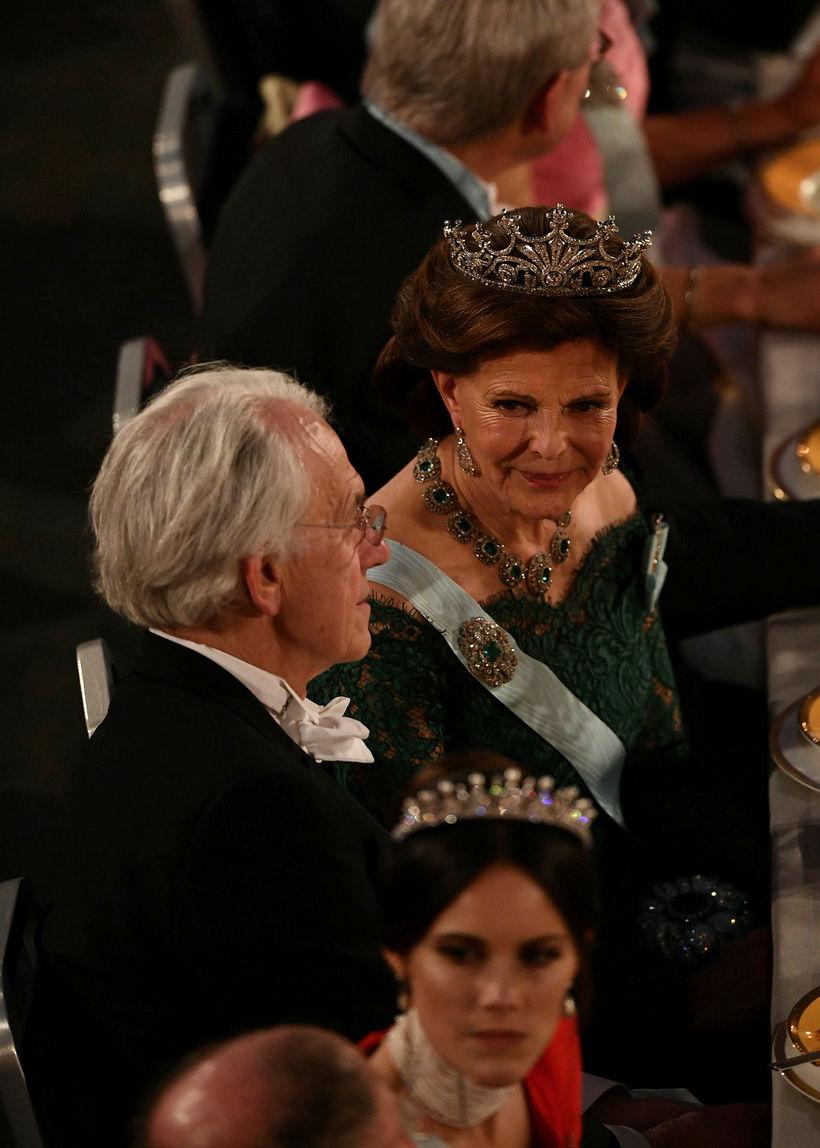 Silvía drottning og Sofia prinsessa voru líka mættar í veisluna.