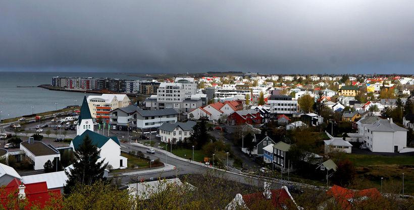 Horft yfir Hafnarfjörð.
