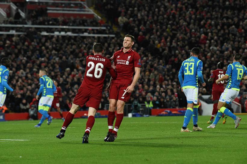 James Milner í leiknum gegn Napoli í kvöld.