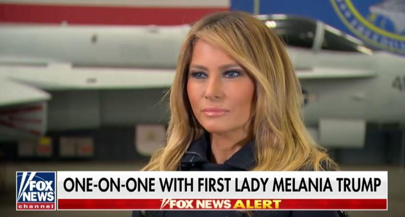 Hár Melaniu Trump var afar ljóst í sjónvarpsviðtali í vikunni.