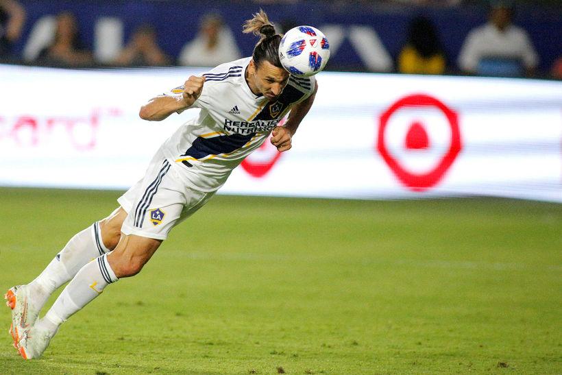 Zlatan Ibrahimovic leikur með LA Galaxy í Bandaríkjunum.