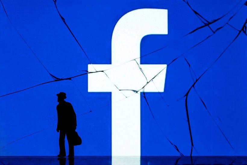 Facebook átti erfitt ár 2018.