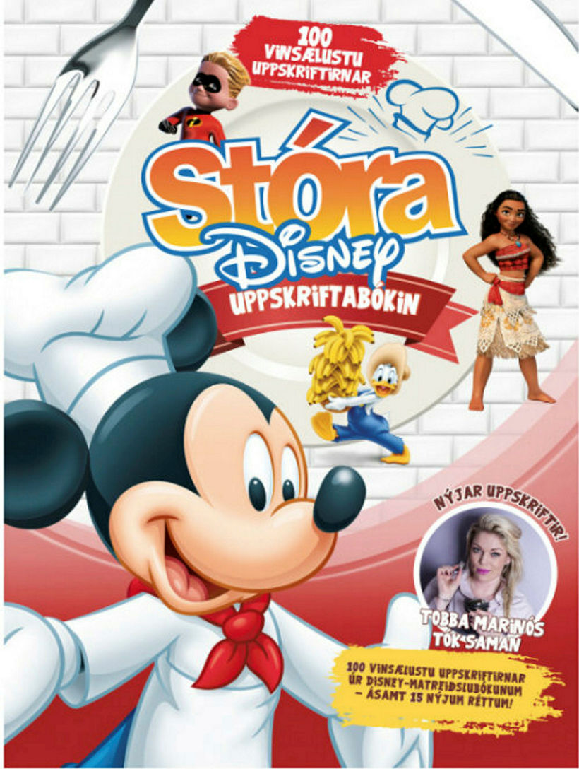 Stóra Disney-uppskriftarbókin. Hún kostar 4290 kr. í bókaverslunum.
