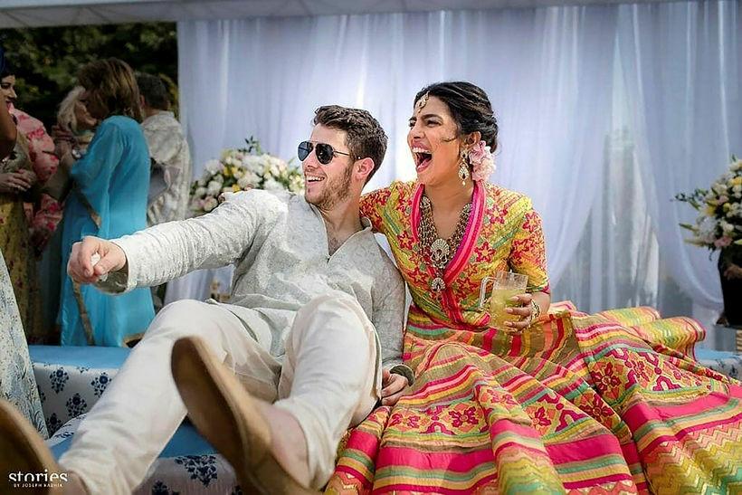 Nick Jonas og Priyanka Chopra gengu í hjónaband um helgina.