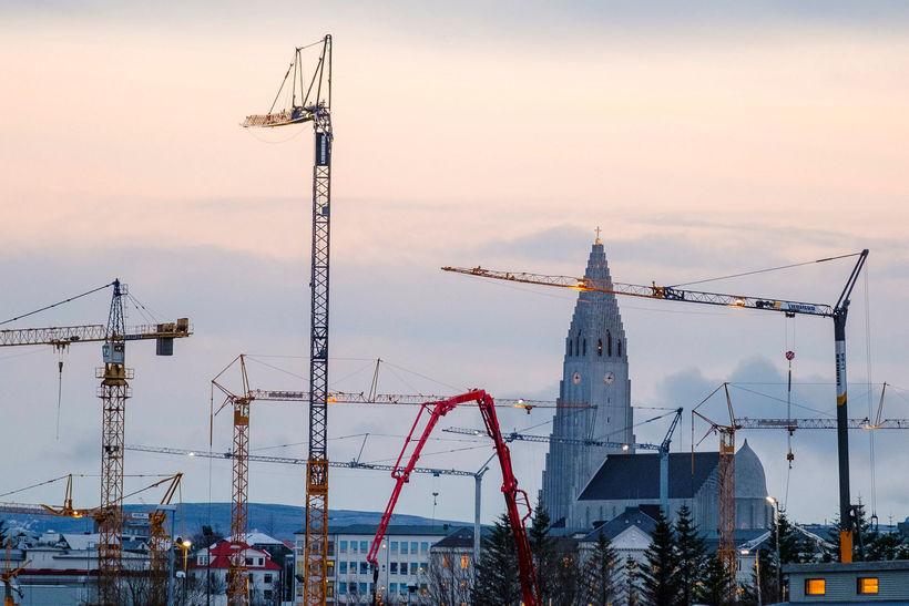 Töluvert hefur verið um framkvæmdir á höfuðborgarsvæðinu að undanförnu.