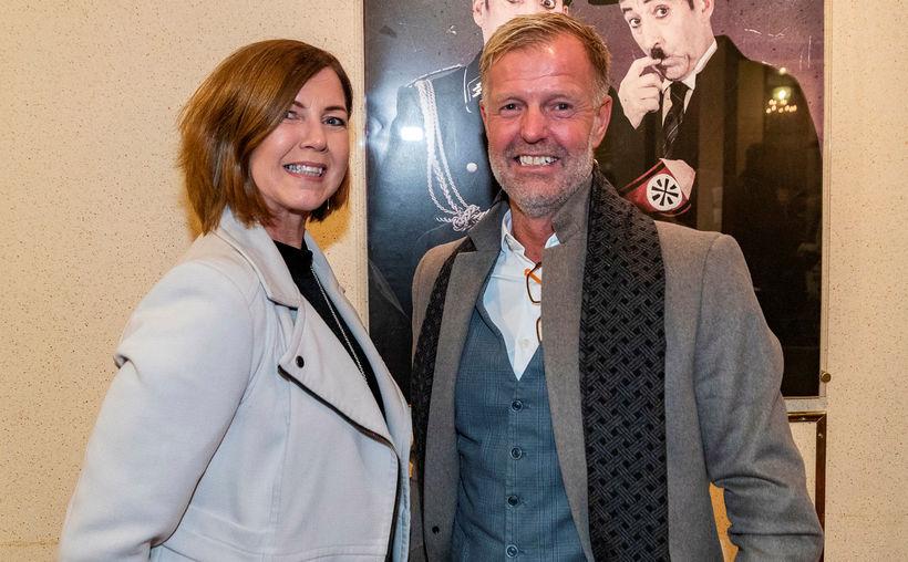 Anna Borg og Jón Hugi.