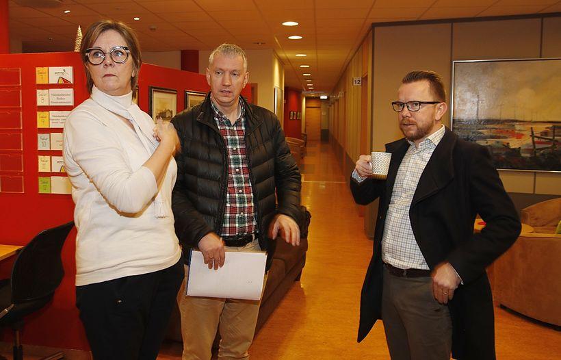 Fulltrúar VR, Eflingar og VLFA mættu á fund hjá ríkissáttasemjara ...