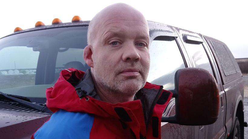 Björn Helgi Snorrason björgunarsveitarmaður var á meðal þeirra fyrstu á …