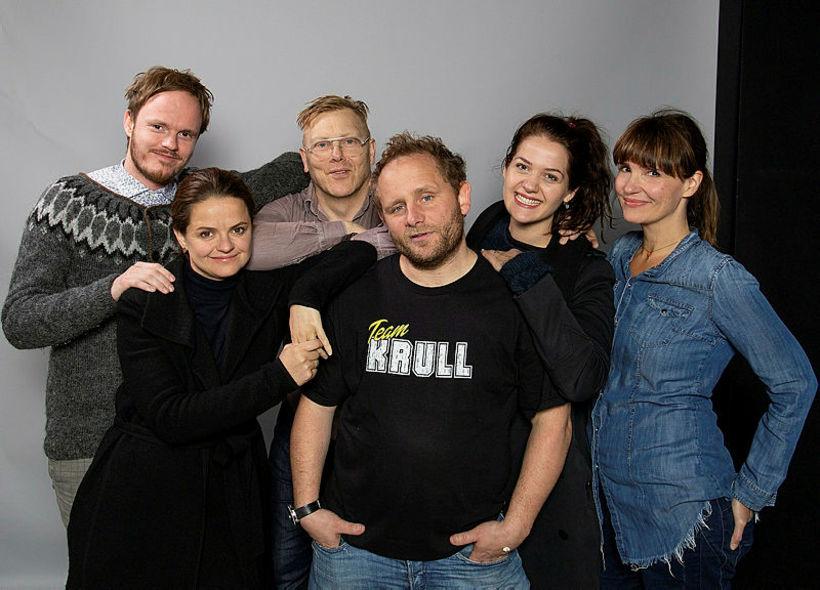 Handritshöfundar áramótaskaupsins árið 2018.
