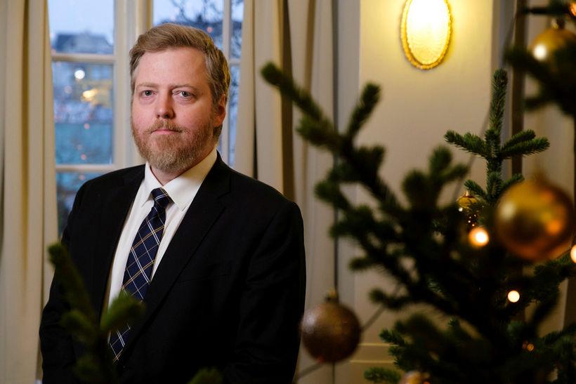 Sigmundur Davíð Gunnlaugsson formaður Miðflokksins. Fylgi flokksins hefur helmingast frá ...