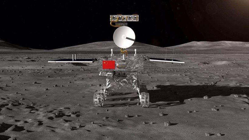 Kínverska geimfarið Chang'e-4 er það fyrsta sem lendir á fjarhlið ...