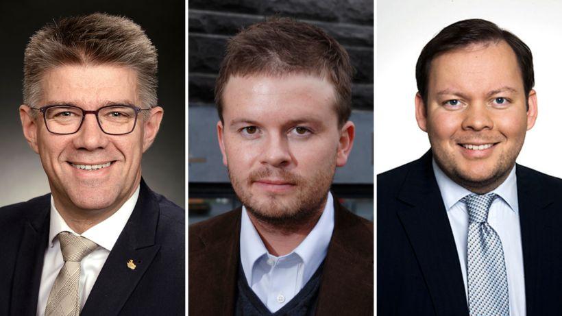 Gunnar Bragi Sveinsson, Ágúst Ólafur Ágústsson og Bergþór Ólason.