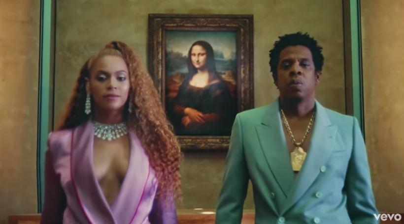 Ofurparið Beyoncé og Jay Z tóku upp tónlistarmyndband á Louvre ...