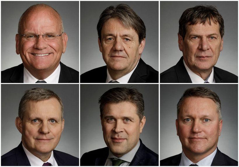 Páll Magnússon, Óli Björn Kárason, Brynjar Níelsson, Jón Gunnarsson, Bjarni ...