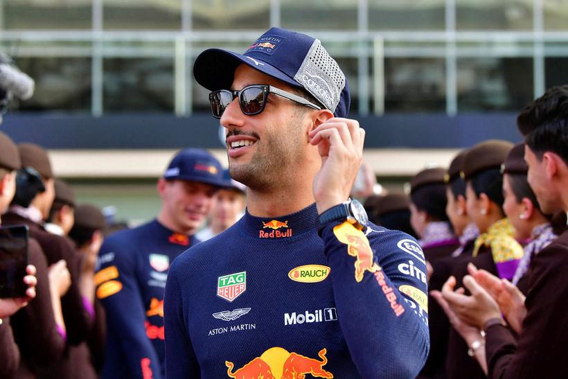 Daniel Ricciardo í Abu Dhabi þar sem formúlutíðinni lauk í ...