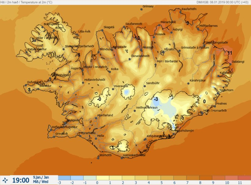 Temperatures in Iceland could go over 20 degrees C tomorrow ...