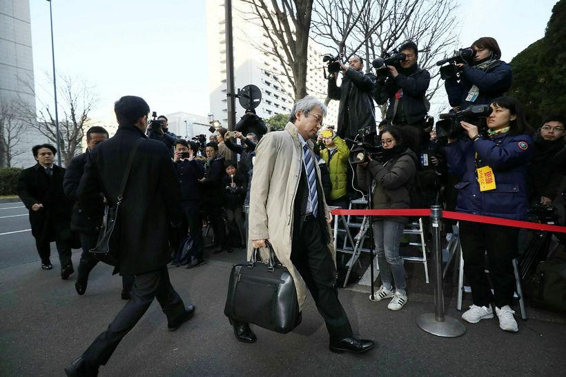 Motonari Otsuru, lögmaður Carlos Ghosn, fyrrverandi stjórnarformanns japanska bílaframleiðandans Nissan, ...