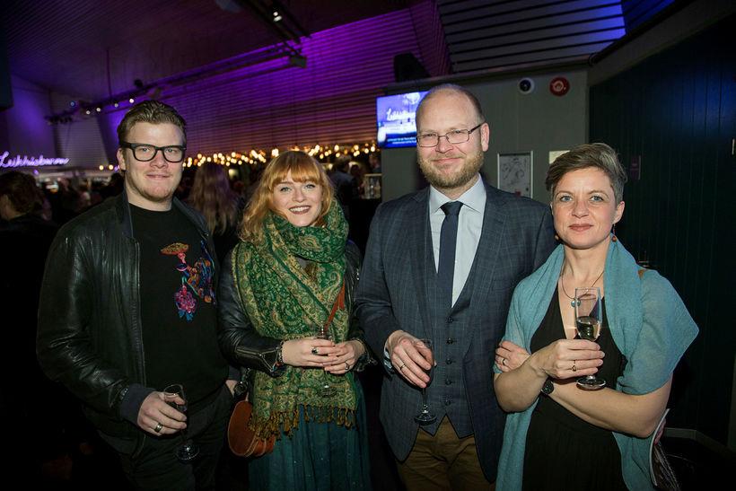 Jón Þorgeir Kristjánsson, Hulda Hjálmarsdóttir, Hlynur Páll Pálsson og Kristjana ...