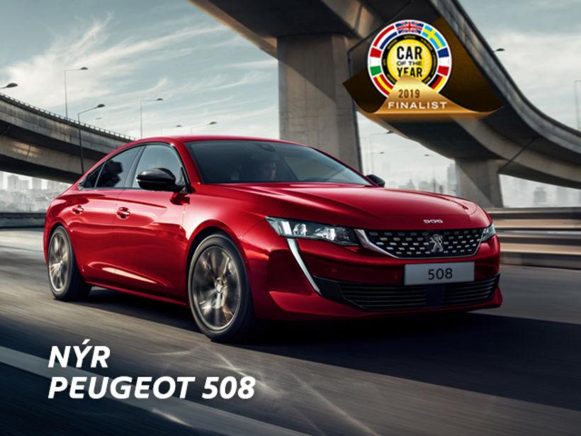 Hinn nýi Peugeot 508 verður frumsýndur á laugardag, 12. janúar.
