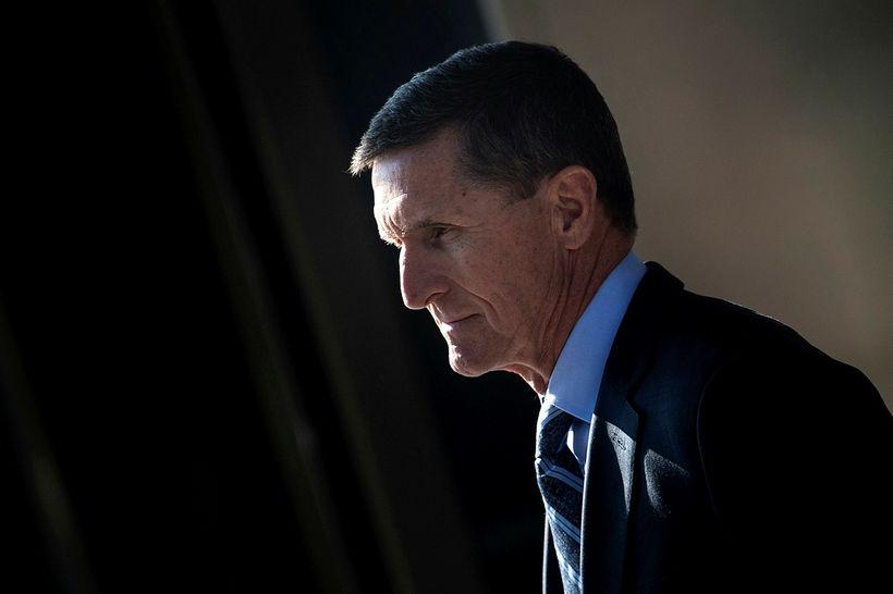 Michael Flynn, fyrrverandi þjóðaröryggisráðgjafi forseta Bandaríkjanna. Mueller mælir með að ...