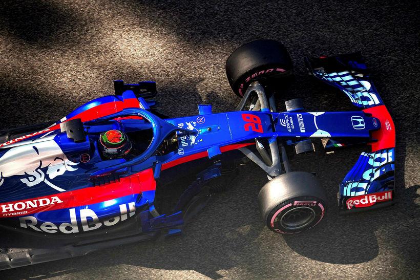 Nýsjálendingurin Brendon Hartley hjá Toro Rosso tjónaði bíl sinn oft ...