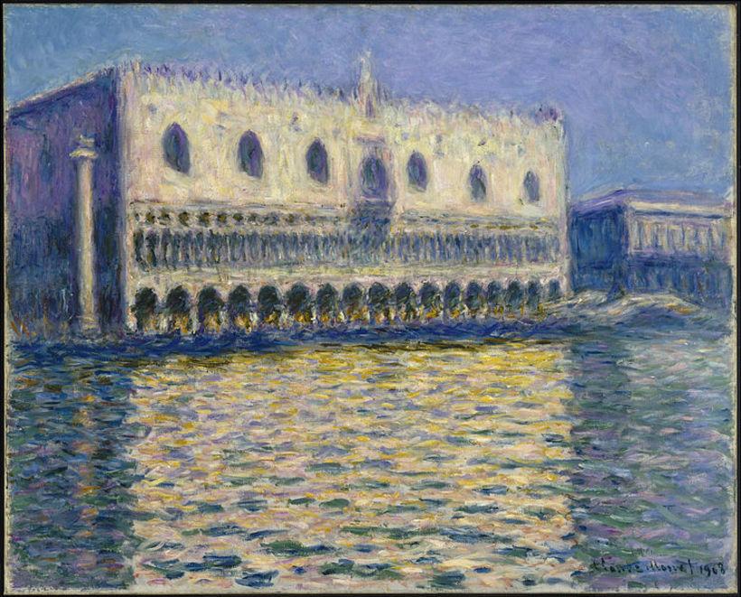 Le Palais Ducal eftir Claude Monet.