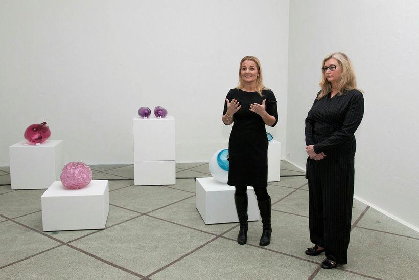 Sigga Heimis og Alma Möller.