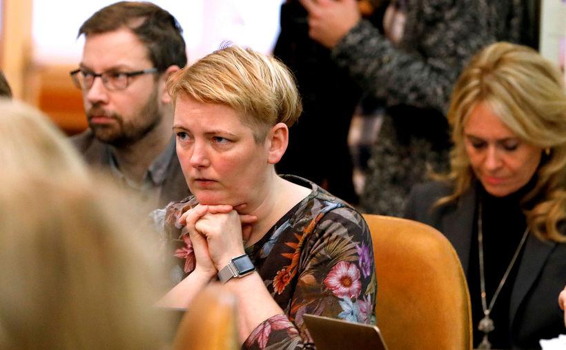 Albertína Friðbjörg Elíasdóttir á Alþingi.