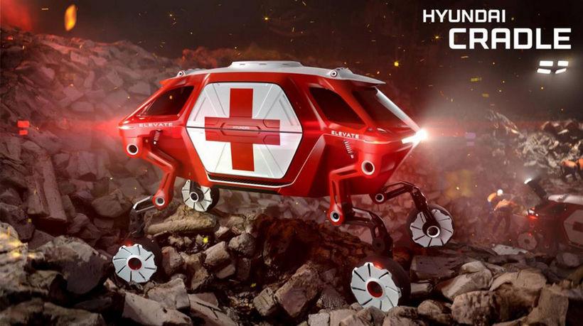 Hyundai Elevate fer þangað sem önnur farartæki komast ekki.