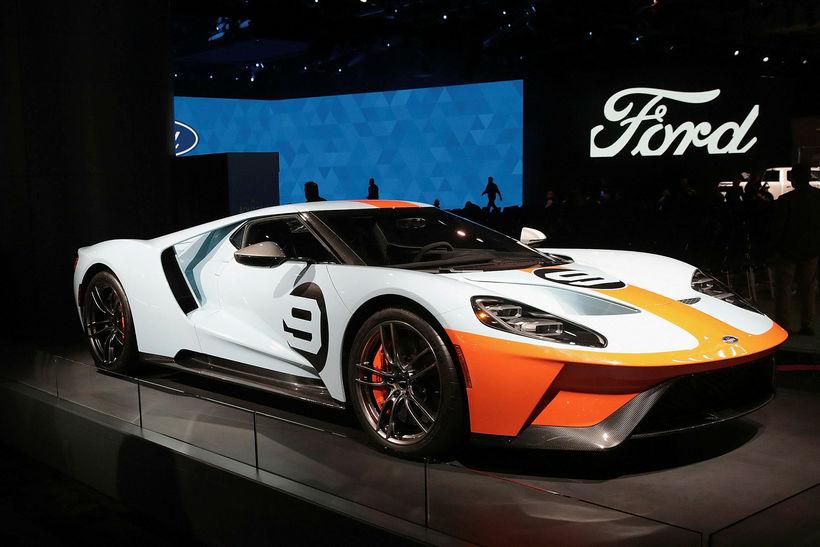 Ford GT á bás Ford í Detroit.