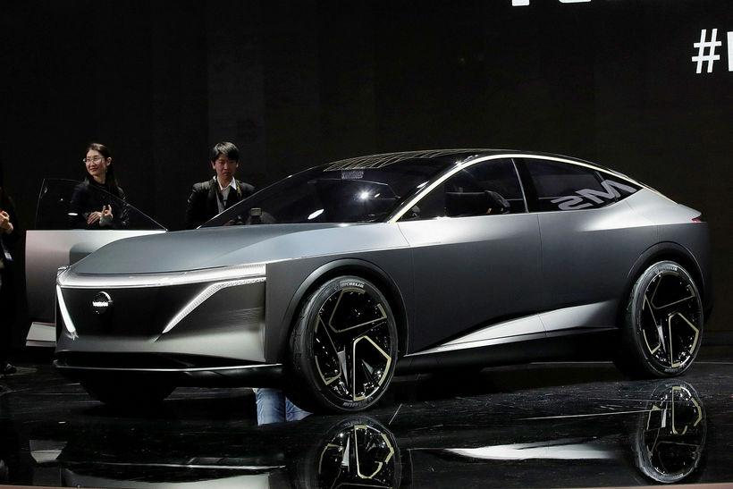 Nissan IMs EV lúxusbíllinn er enn á hugmynda- og þróunarstigi.
