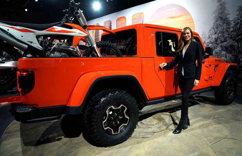 Jeep Rubicon sómdi sér vel í Detroit.