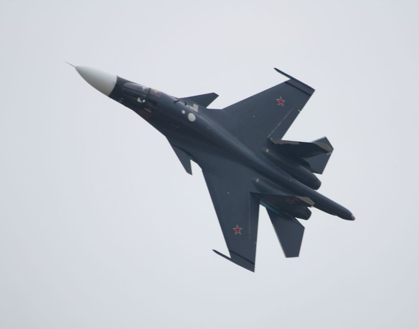 Rússnesk orrustuþota af gerðinni Su-34.