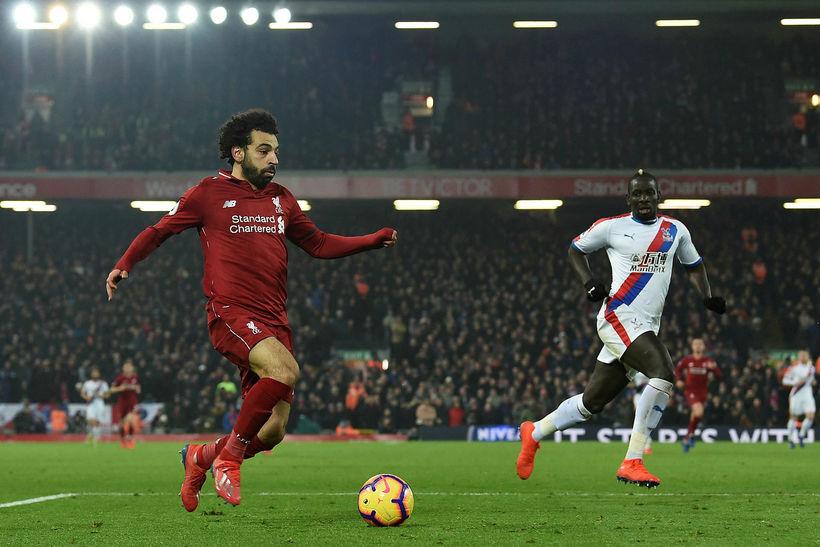 Mo Salah skoraði tvö mörk.