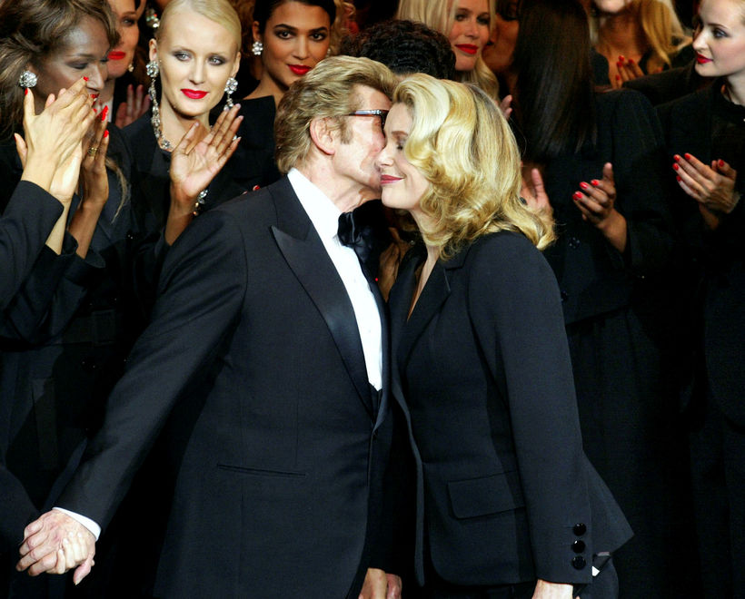 Yves Saint-Laurent og Catherine Deneuve.