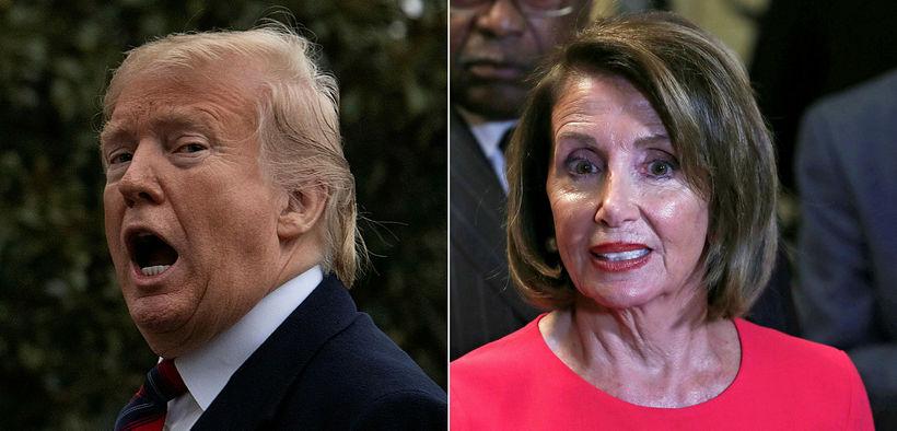 Donald Trump Bandaríkjaforseti segir Nancy Pelosi, forseta fulltrúardeildar Bandaríkjaþings, hafa ...