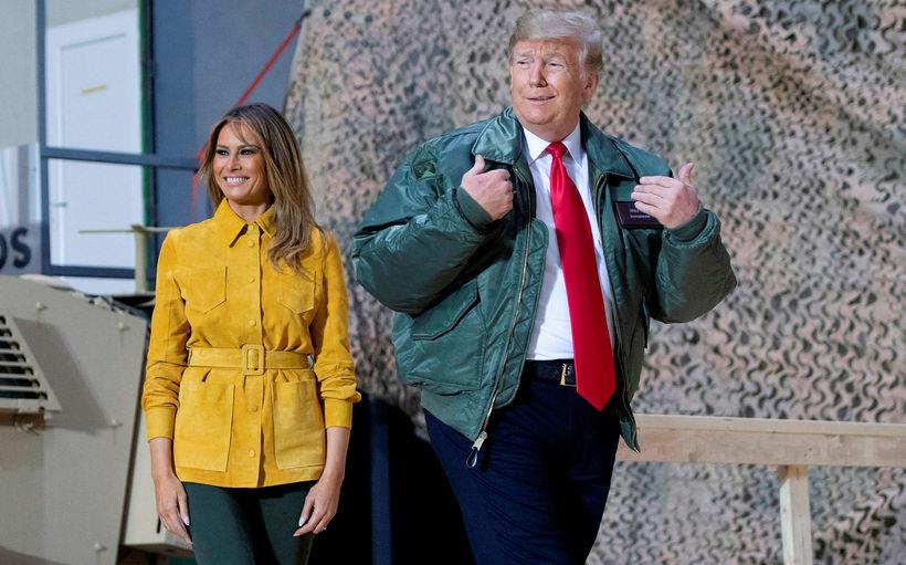 Donald og Melania Trump. Forsetafrúin er sögð gera sitt til ...