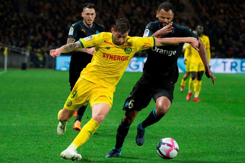Emiliano Sala vakti mikla athygli fyrir frammistöðu sína með Nantes …