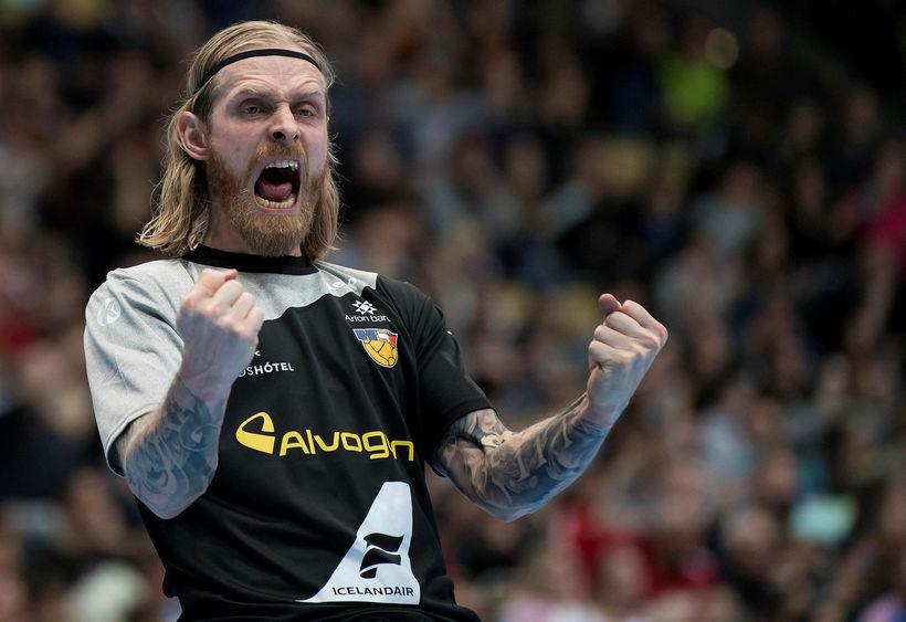 Björgvin Páll Gústavsson markvörður landsliðsins náði sér ekki á strik ...