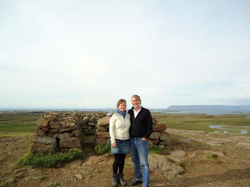 Feðginin Rósa og Þórir nutu þess ævinlega að vera saman ...